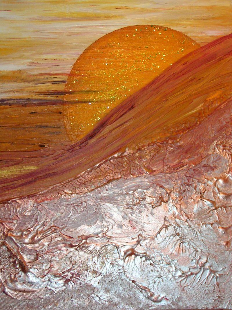 Aurora gemalt von Sabine Wöger